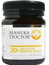 MANUKA DOCTOR  20 + BIO ACTIVE MANUKA HONEY 8.75 oz Product of New Zealand.