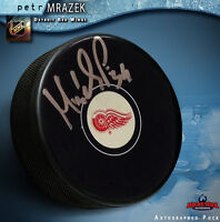 PETR MRAZEK Signed Detroit Red Wings Puck