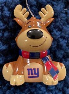 New York NY Giants Reindeer Christmas Holiday Tree Ornament FREE USA SHIPPING