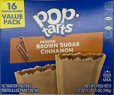 NEW KELLOGGS POP TARTS FROSTED BROWN SUGAR CINNAMON 27 OZ (768g) BOX 16 PASTRIES
