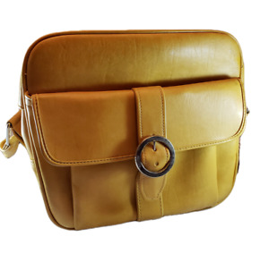 Vintage Samsonite Gold Overnight Carry-On Luggage Bag With KEY