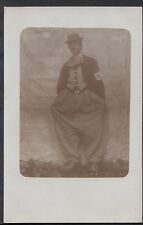 Ancestors Postcard - Circus?- Man Dressed Up As A Clown  S373