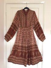 Vintage Mayur Jaipur Indian Cotton Gauze Dress S M 8 10 12 Boho Hippy