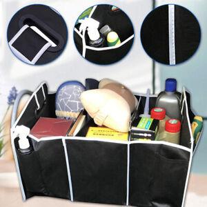 Foldable Black Car Trunk Cargo Organizer Multi-purpose Storage Box Bag Case Trim