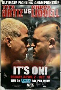 UFC 47 Ortiz Vs Liddell Signed Event Poster
