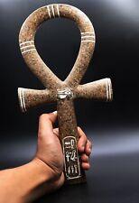 Egyptian Antique Egypt Ankh Key Of Life Hieroglyphic Statue Granit Stone Bc