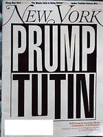 NEW YORK  MAGAZINE JULY 9 - 22 2018  PRUMP TUTIN -WILL TRUMP BE MEETING WITH HIS