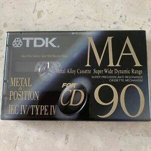 TDK MA90 MA 90 Metal Position Quality Cassette Tape Sealed New
