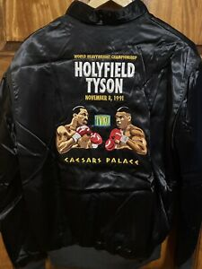 Vintage 1991 Tyson Holyfield Satin Jacket Men's Medium Super Rare