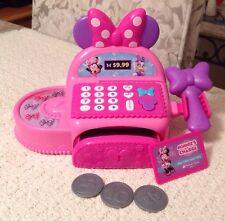 Minnie Bowtique Cash Register - Disney, Comes with 3 Coins & 1 Debit Card, Euc