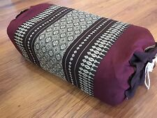 Thai Cotton Bolster Pillow, Yoga, Craft, Headrest Meditation , Free Pillowcase