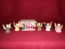 5 TINY VINTAGE ANGELS & 1 HOUSE!   A+ COND!   W GERMANY & JAPAN  BIN!   SALE!