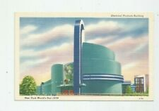 VTG Postcard 1939 NEW YORK WORLDS FAIR ELECTRICAL PRODUCTS BUILDING  S84
