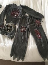 NWTS HALLOWS EVE BOYS ZOMBIE HALLOWEEN COMPLETE OUTFIT SZ M10-12