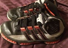 Adidas High tops Hightops Shoes Sneakers Black Gray Red Boys Youth 13.5 Kids PEM