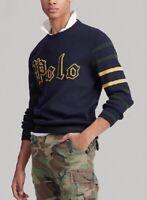 Polo Ralph Lauren Men's Cotton Letterman Sweater - Size S