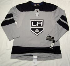 LOS ANGELES KINGS - size 46 = Small Alternate 3rd Style ADIDAS NHL HOCKEY JERSEY