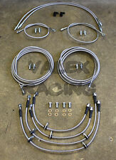 Complete Front & Rear Brake Line Replacement Kit 96-00 Honda Civic w/rear disc