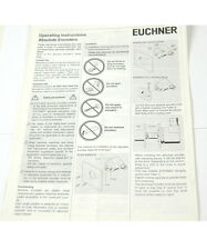 EUCHNER ABSOLUTE ENCODER OPERATING INSTRUCTIONS (W-4-BOX 9-19-RCT)