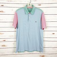 Vineyard Vines Multi Color Stripe Polo Top Mens Size S Short Sleeve Golf Casual