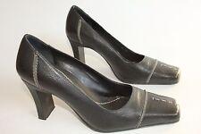 Faith womens black leather heels uk 5