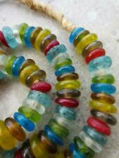 Beads [70221] African Glass Disk