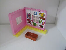 Lego Duplo Construction Farm Horse Walls Barn Stall Building Lot Set Pink
