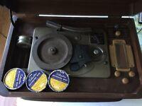 Silvertone 8086 Phonograph Radio And Recording Device