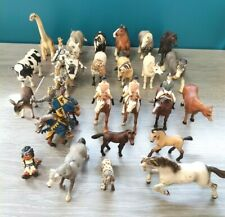 SCHLEICH-PAPO- lot personnages-animaux +/- 3kgs