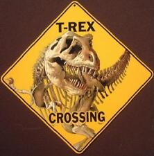 T-Rex Crossing Sign 16 1/2 by 16 1/2 New decor animals picture dinosaurs signs