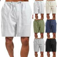 Plus Size Men's Plain Shorts Cargo Sport Elastic Waist Casual Loose Combat Pants