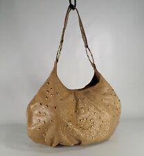 d84fcecd5836 Sabina Leather Hobo Handbag Purse Studded Shoulder Bag Tan