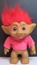"8"" Tall Collectible Ace Novelty Co. Inc. Pink Eye Troll Doll Red -ish Pink Hair"