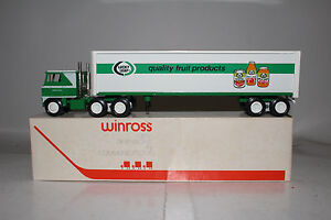 1980 Winross Die Cast Metal Semi Truck, Lucky Leaf Fruit Products, Nice