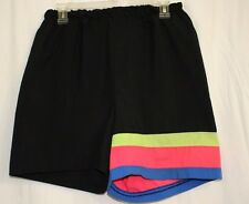 Tee Dee's Women's Exercise Nylon Type Black Shorts Waist Size 28