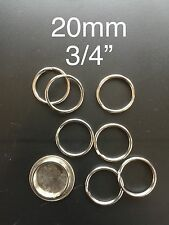 "Stainless Steel Key Rings 20mm or 3/4"" Split Ring jump ring, Wholesale Lot 1,000"
