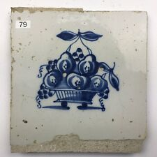 "in kwadraat /"" 2 Jhd. Hälfte 17 Fliese Delfter Kachel Dutch Tile /"" Drietulp"