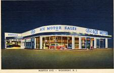 Print. 1948-9. Woodbury, New Jersey. Ace Motor Sales, Ford auto dealership