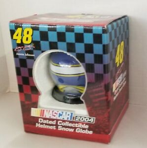 Rare 2004 Nascar Helmet Snow Globe Jimmy Johnson # 48 Trevco W Box