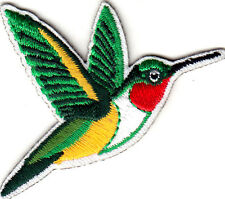 "Hummingbird with Red Throat (2 1/2"")  Birds Iron On Embroidered Patch"