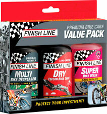 Finish Line Bike Care Value Pack Includes DRY Lube EcoTech Degreaser and Super