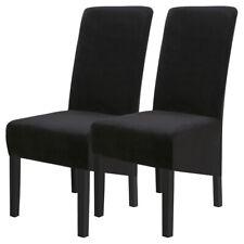 Universal Long Back Velvet Dining Chair Covers Wedding Banquet Slipcovers ,