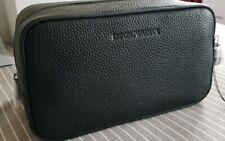 Emporio Armani. Black Leather Wash Bag. BNWT. Fabulous item!!!!