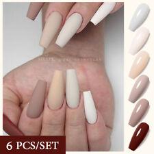 UR SUGAR 6 Colors/Set Nail Gel Polish Nail Art Soak Off UV LED Matte Top Coat