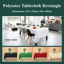 Rectangle Polyester Tablecloth 200GSM Wedding Event Party Banquet Tableware