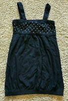 NWT Girls Black Sleeveless Bongo Top Medium 7/8