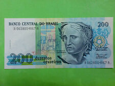 Brasil 200 Cruzeiros 1990 (GEM UNC) AA