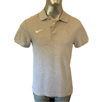 Nike Polo T Shirt  Mens  Medium M  Grey Knitted Cotton  Casual Wear