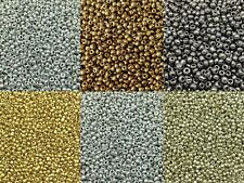 50g glass seed beads - Metallic, size 8/0 (approx 3mm) - choice of 5 colours