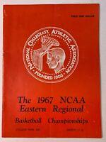 1967 (3/17-18) NCAA Eastern Regional Basketball Championships Program GOOD